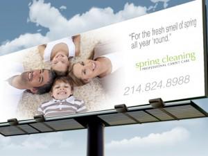 Outdoor Advertising-Billboard Example- Carpet Cleaners Billboard Advertising Example