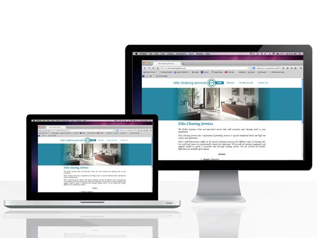 Elite Cleaning website Design-image