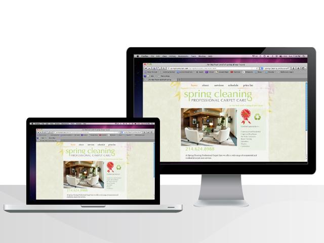 Carpet Cleaning Website Design-Web Design Image