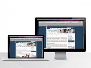Texas Board of Nursing website Deign Image