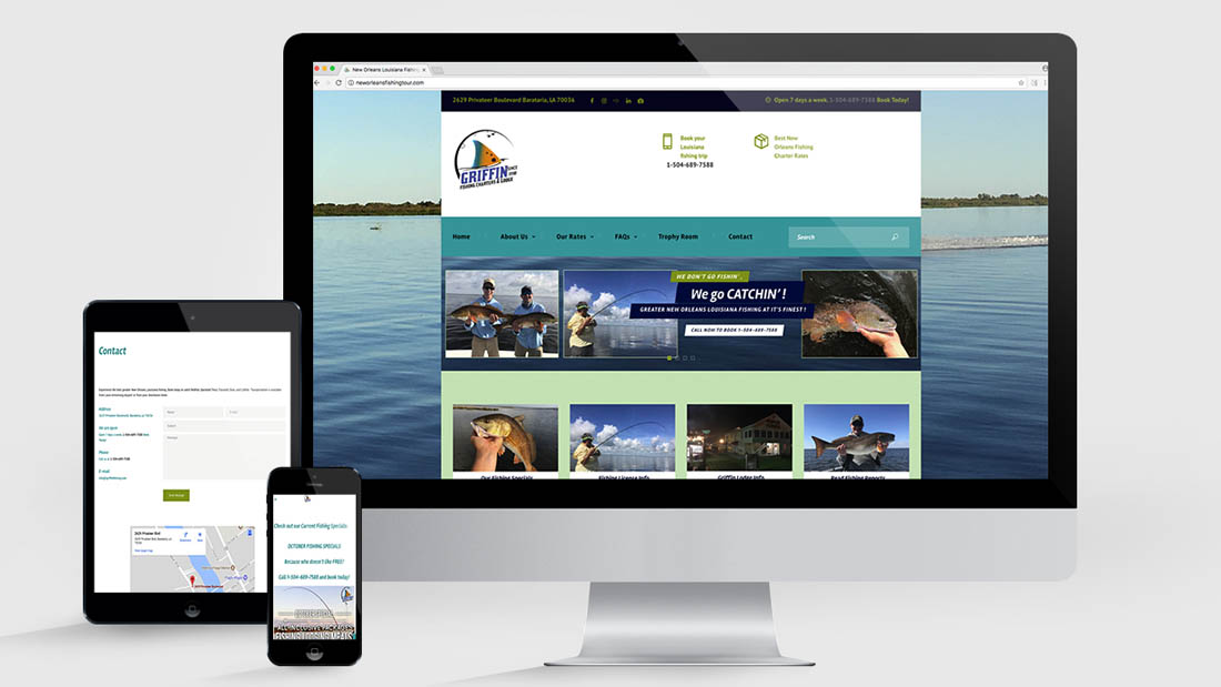 Louisiana Fishing Charter Website Design