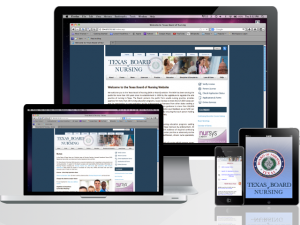 Texas Board of Nursing Website Design Services