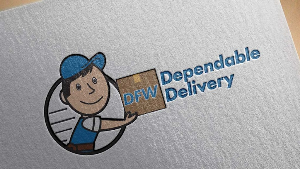 DFW Dependable Delivery Logo- Dallas Fort Worth Moving Delivery Company Logo Design