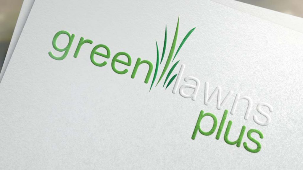 Green Lawns Plus Logo Design-Big Hit Creative